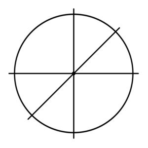 Рисунок 2<br />Знак Создателя с привычными и наглядными осями координат.