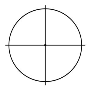 Рисунок 3 Одна из осей не видна, так как мы смотрим прямо на неё. Соответственно, утрачивается её значение.